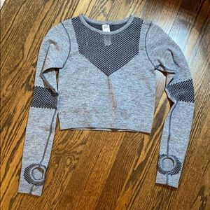 Cropped athletic top